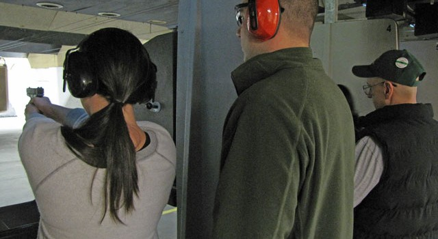 Firearms demonstration at the Smithfield Police Department Citizens' Police Academy.