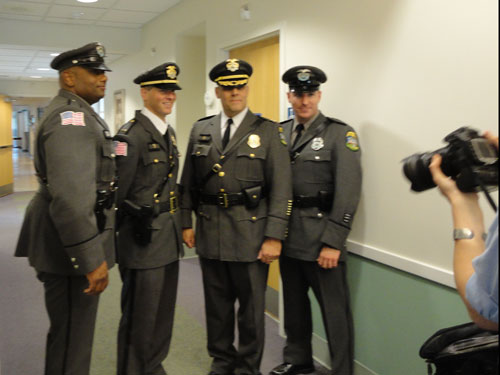 Smithfield Police Officers participate in the Smithfield Senior Center Fashion Show