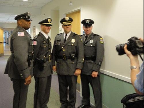 Smithfield Police Officers participate in the Smithfield Senior Center Fashion Show