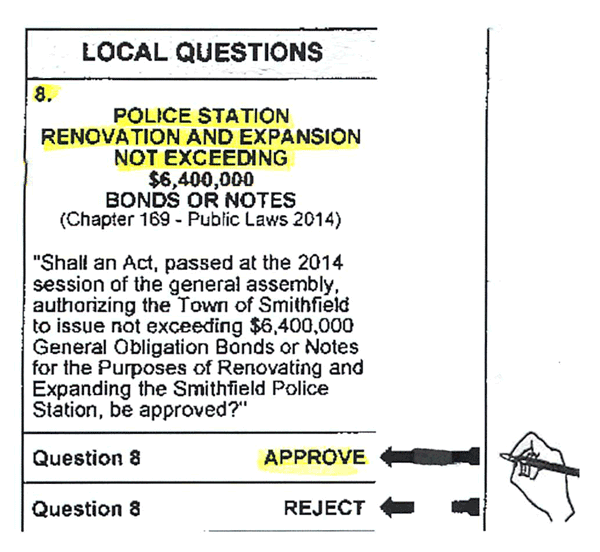 Please Approve Question 8 (Police Station Renovation & Expansion) on November 4th
