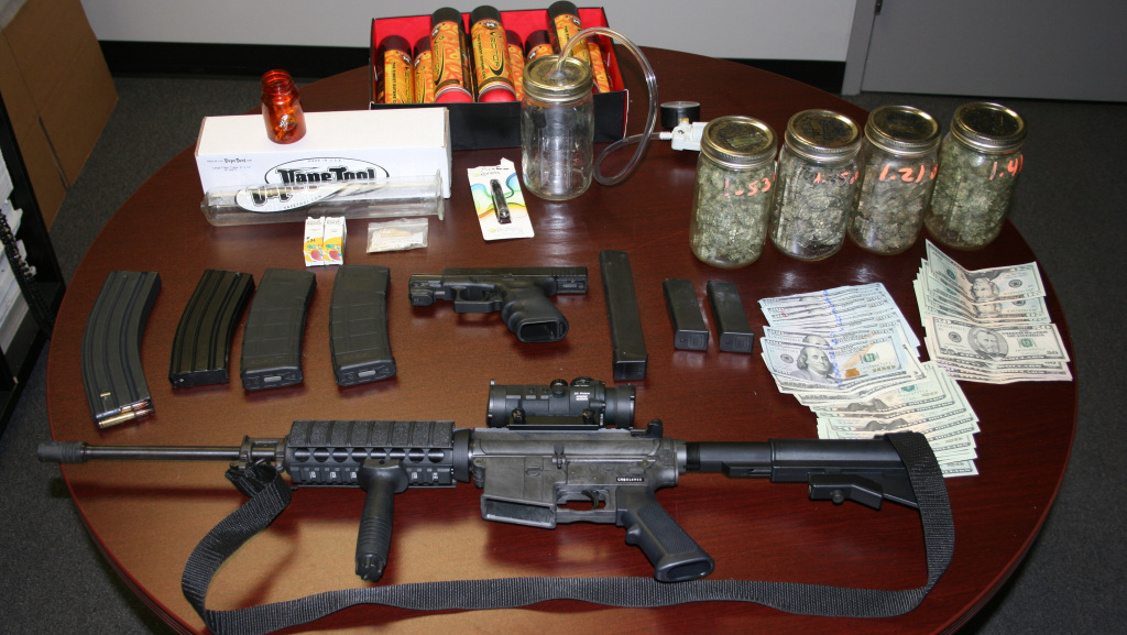 Smithfield Police Find Assault Rifle, 47 marijuana Plants During Search and Arrest