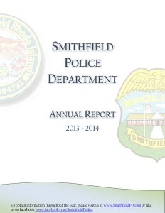 2013-2014 Smithfield Police Department Annual Report