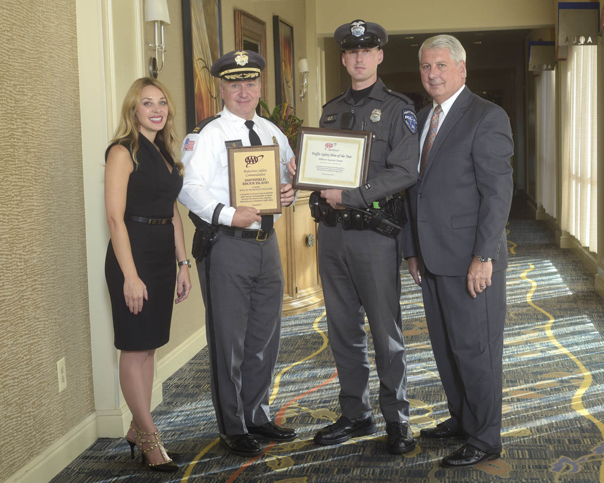 Patrol Officer Lucas L. Cruse receives AAA Traffic Safety Hero Award