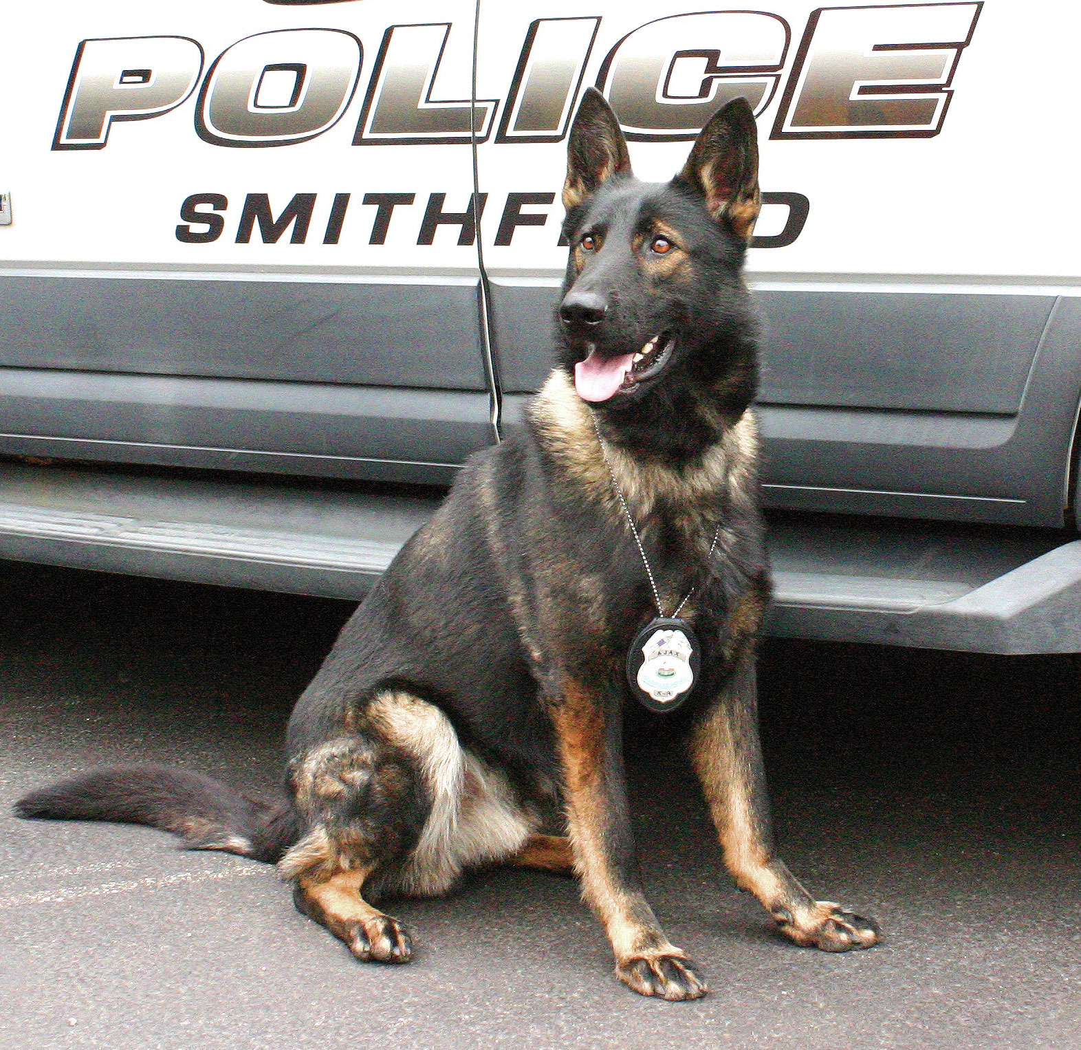 Smithfield Police Department's K9 Ajax