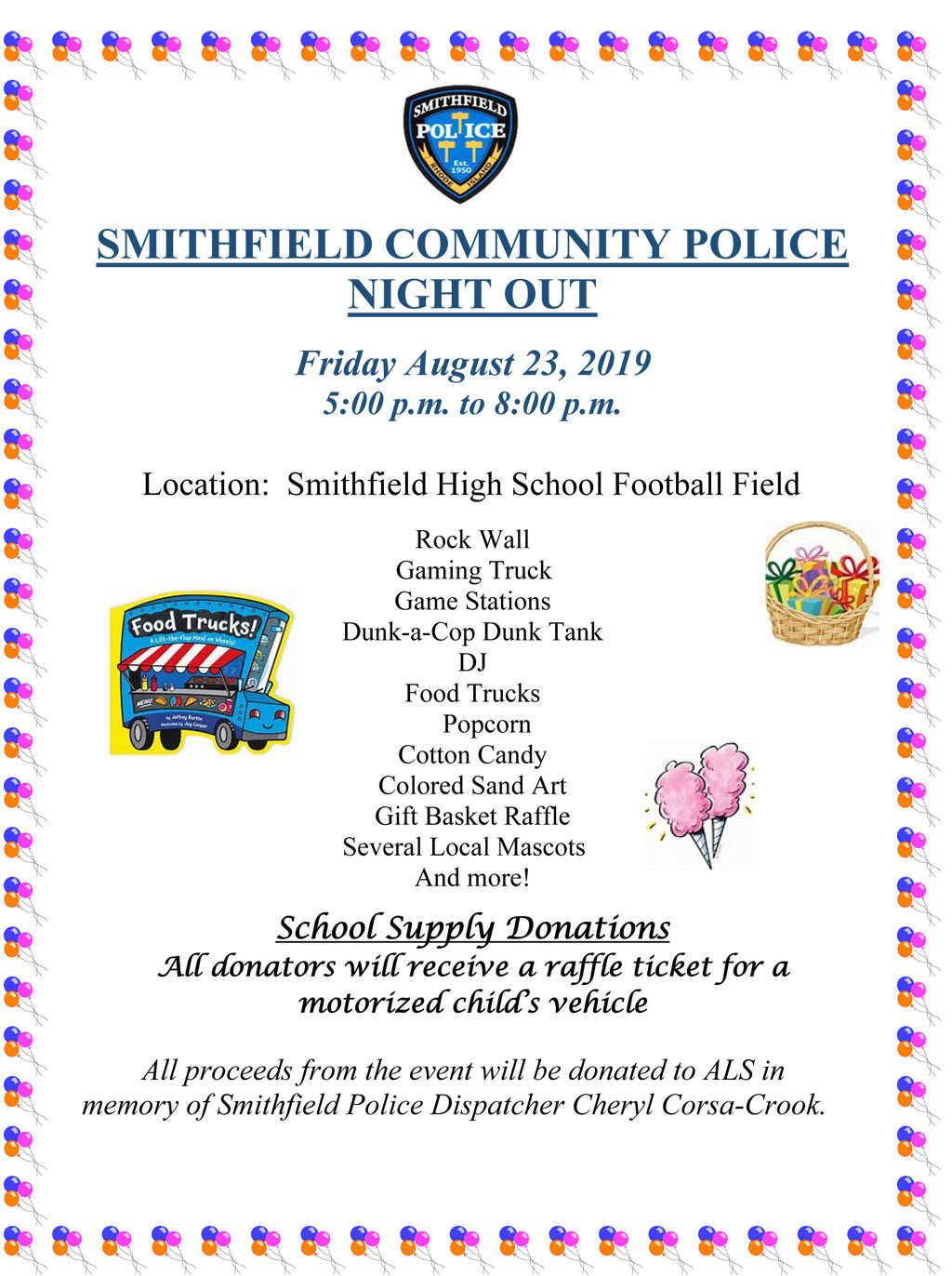 SPD to Host Community Police Night Out on Friday, August 23rd