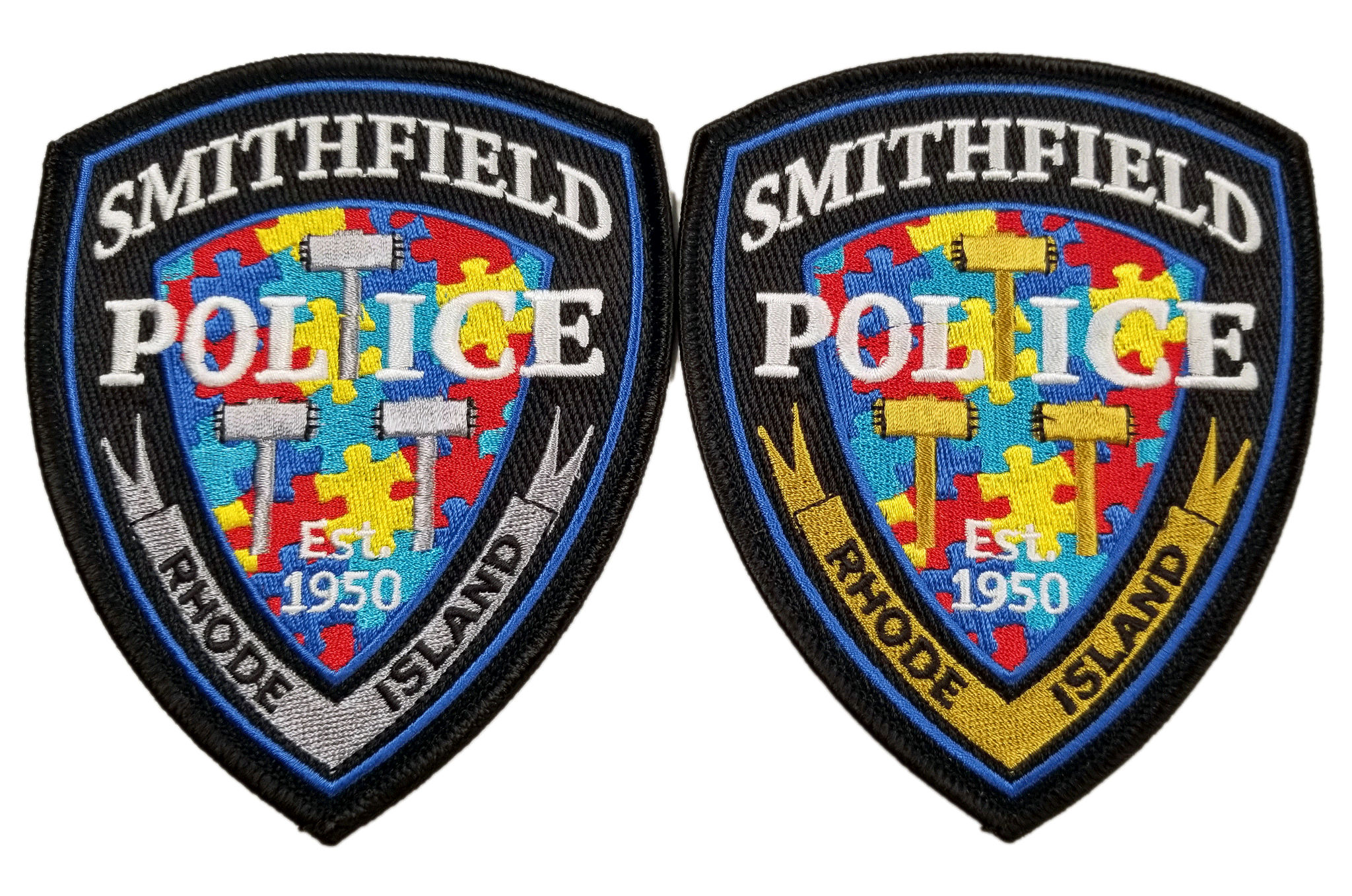 Smithfield Police Autism Awareness patches